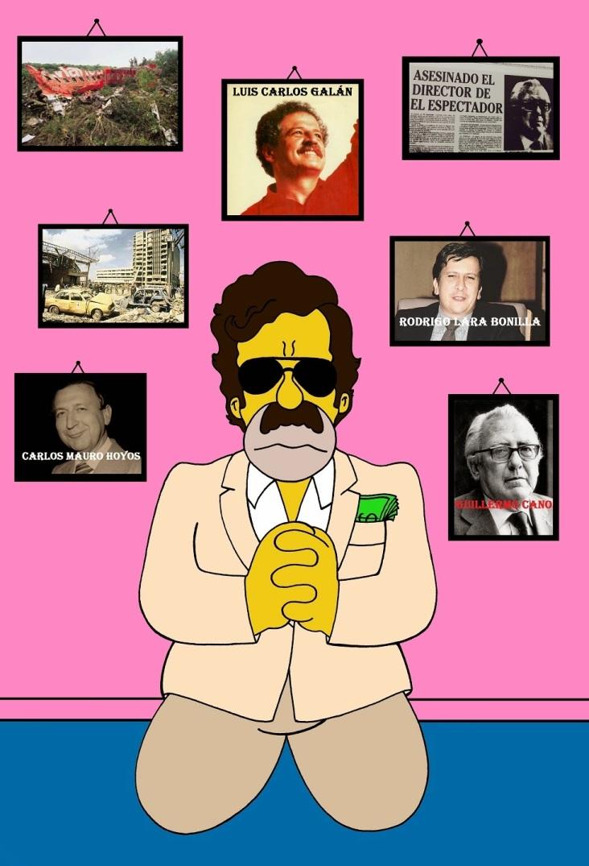 Pablo+Escobar+Pray+Luis+Carlos+Galán+Sarmiento+Rodrigo+Lara+Bonilla+Carlos+Mauro+Hoyos+Guillermo+Cano+Narcos+Colombia+Legalize+The+Simpsons+Drugs+Campaign+Art+Cartoon+Humor+Chic+by+aleXsandro+Palombo+1